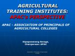 agricultural training institutes apac s perspective