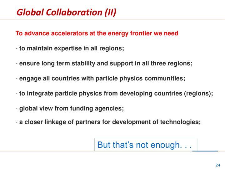 Global Collaboration (II)