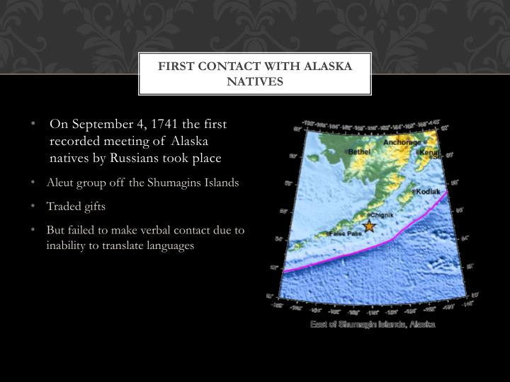 First Contact With Alaska Natives