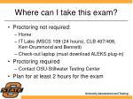 where can i take this exam