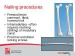 nailing procedures