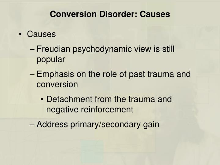 dissociative conversion disorders hysteria In addition, studies of cases with a diagnosis of conversion disorder compared the occurrence of dissociative symptoms with other psychiatric disorders, and dissociative experiences were.