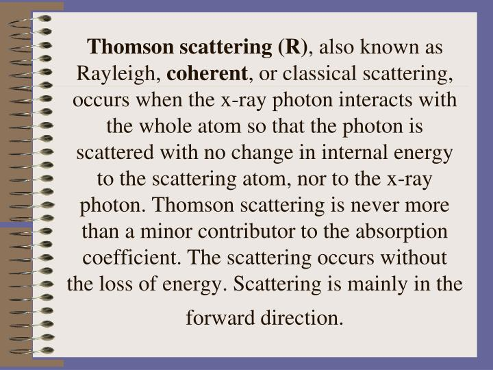 Thomson scattering (R)