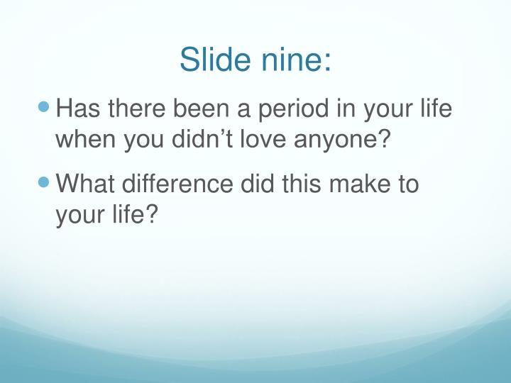 Slide nine: