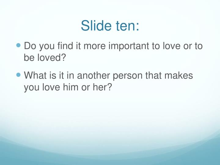 Slide ten: