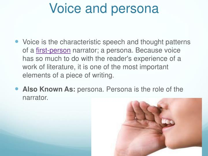 Voice and persona