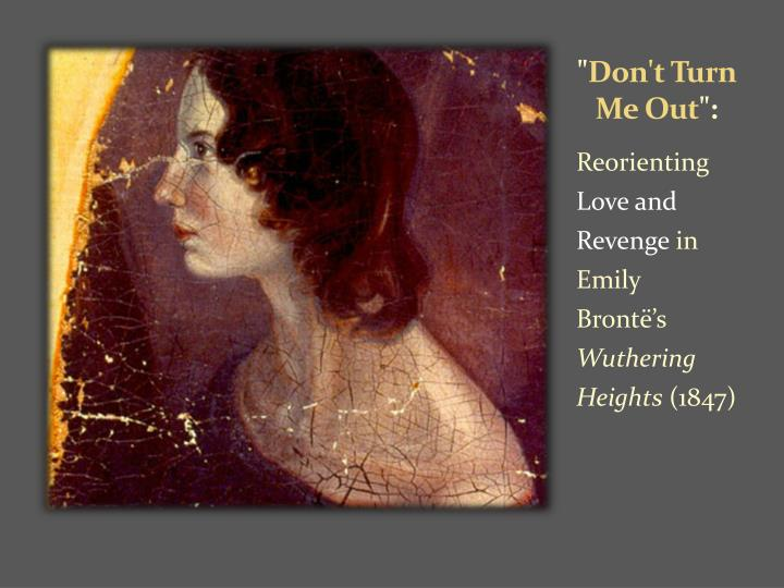 an analysis of revenge and violence in emily brontes wuthering heights Wuthering heights by emily bronte: violence in and the former to take his revenge with treachery and violence book analysis wuthering heights by emily.