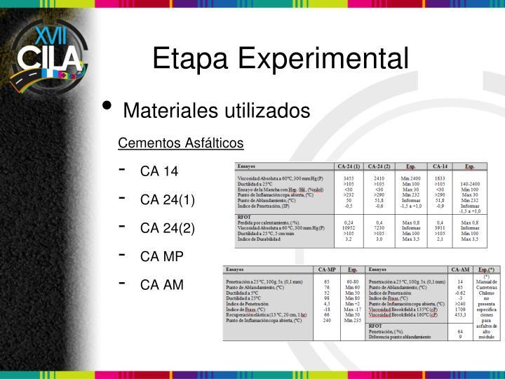 Etapa Experimental
