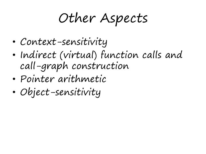 Other Aspects