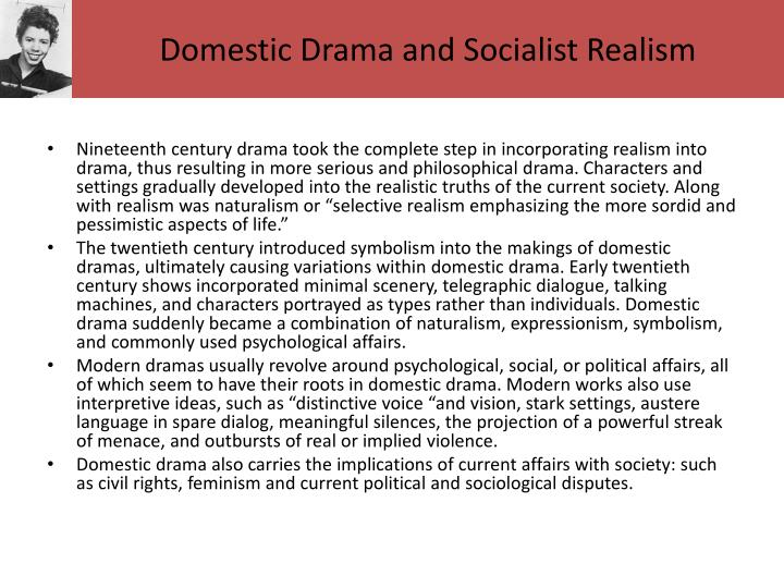 Domestic Drama and Socialist Realism