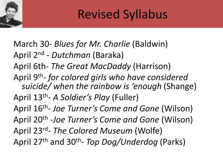 Revised syllabus