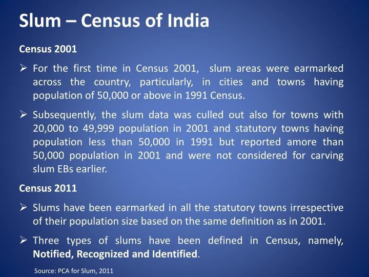 Slum – Census of India