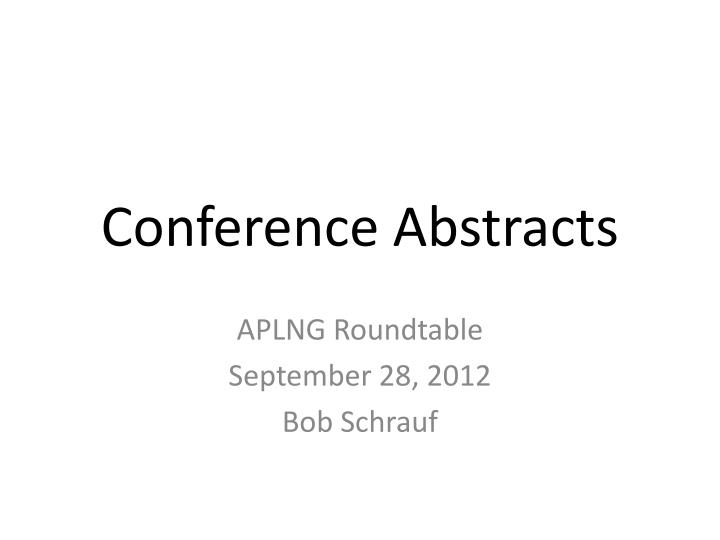 conference abstracts n.