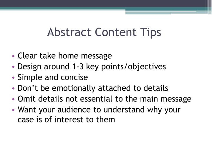 Abstract Content
