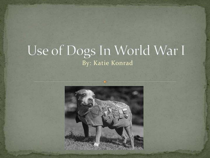 use of dogs in world war i n.