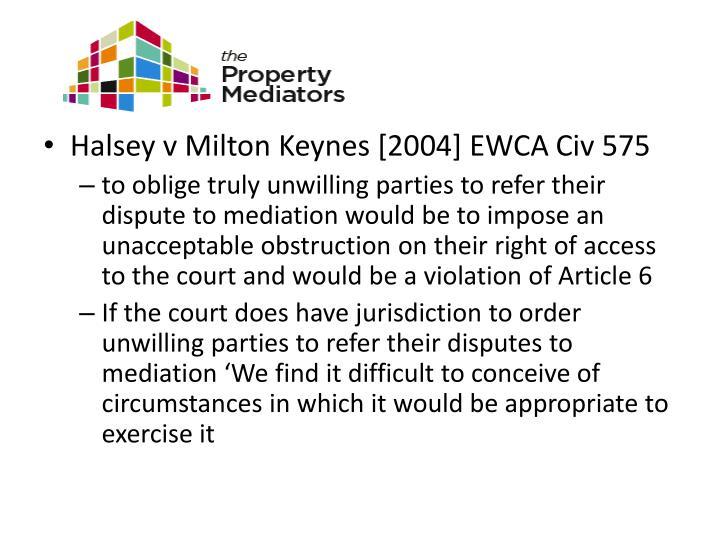 Halsey v Milton Keynes [2004] EWCA