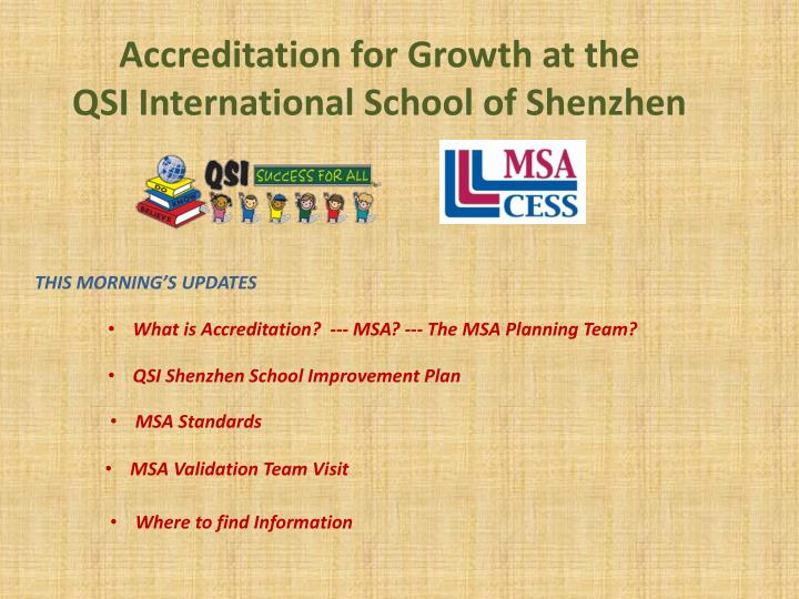 accreditation for growth at the qsi international school of shenzhen n.
