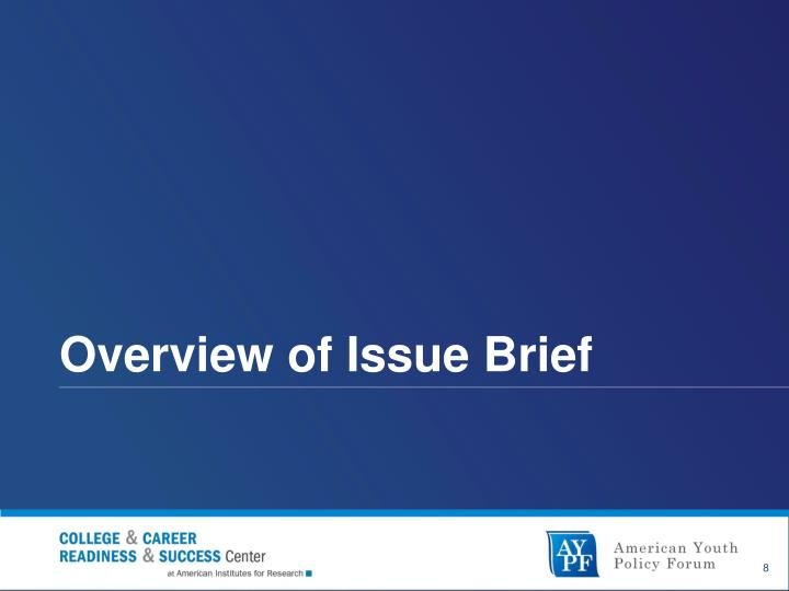 Overview of Issue Brief