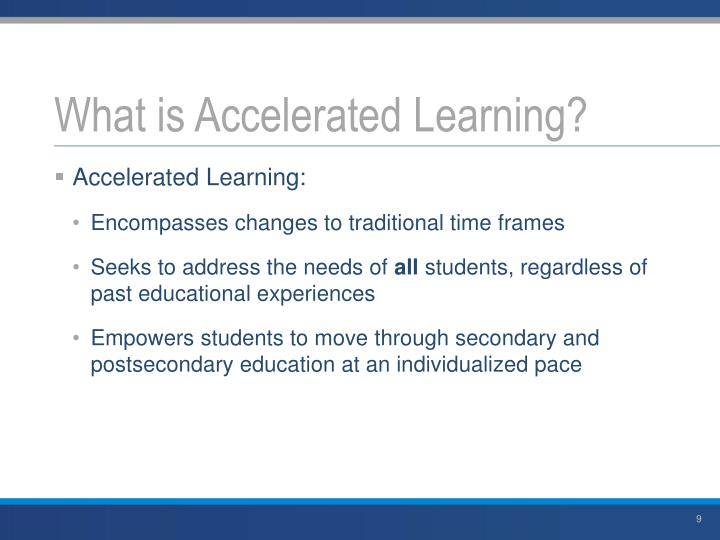 What is Accelerated Learning?