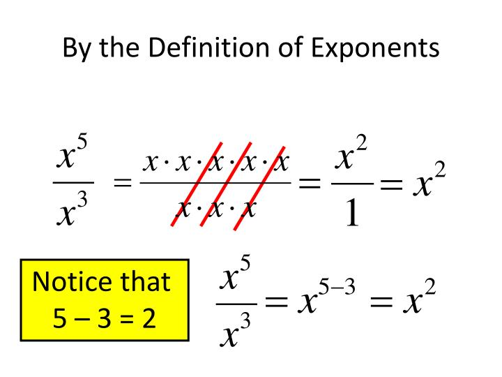 By the Definition of Exponents