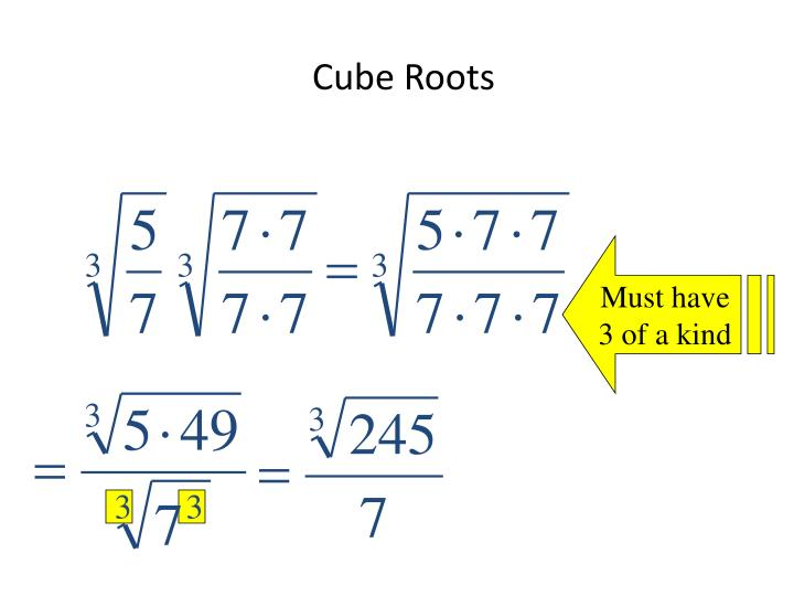 Cube Roots