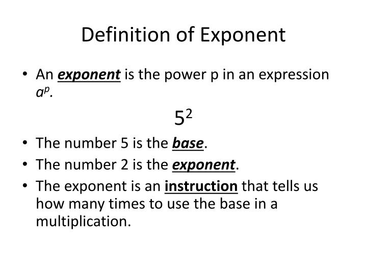 Definition of exponent