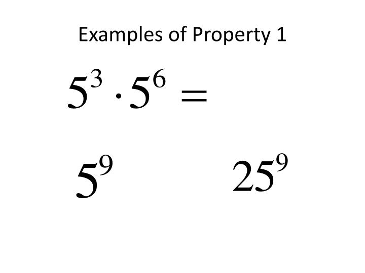 Examples of Property 1