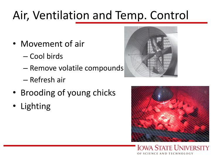Air, Ventilation and Temp. Control