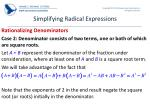 simplifying radical expressions5