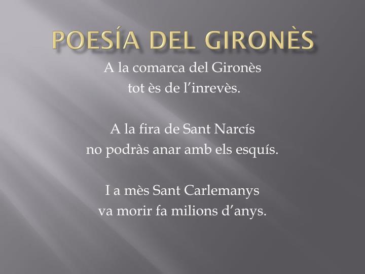 Poesía del gironÈs
