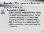 related compliance issues1