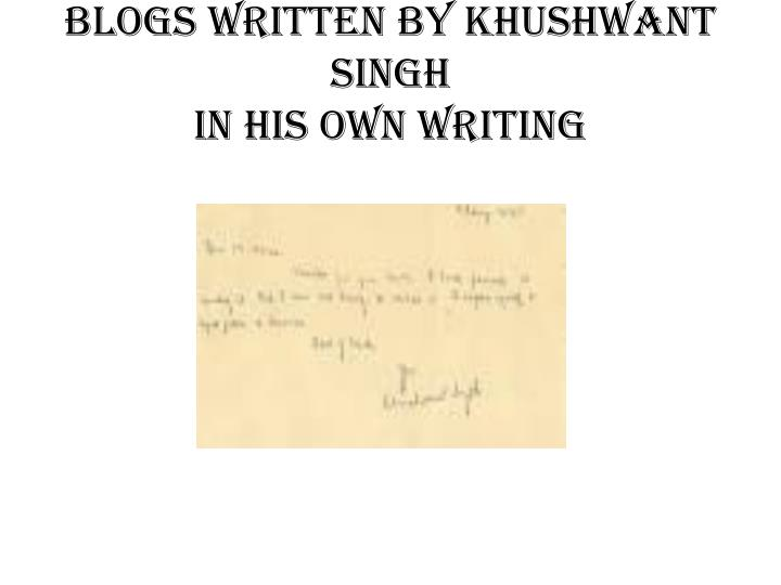 khushwant singhs the wog essay Best books of khushwant singh this bold and thought provoking collection of essays on india's emergency explained the reasons why khushwant singh supported the.