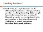 adding prefixes
