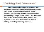 doubling final consonants4