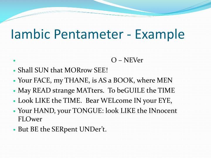 PPT - Iambic Pentameter PowerPoint Presentation - ID:1891668