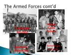 the armed forces cont d2