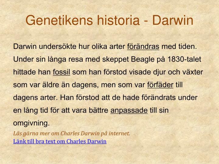Genetikens historia -