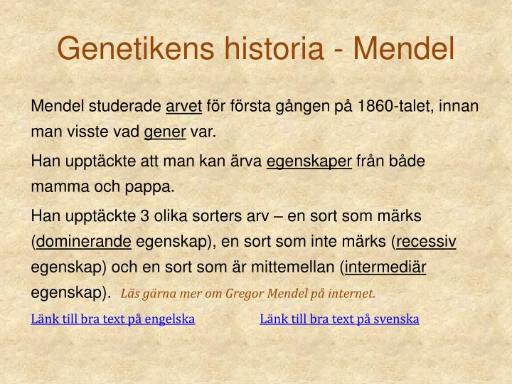 Genetikens historia - Mendel