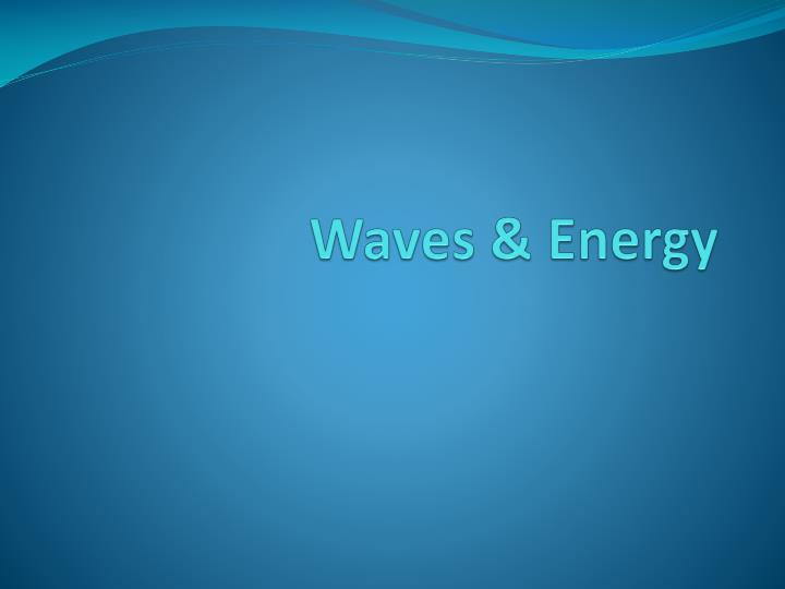 waves energy n.