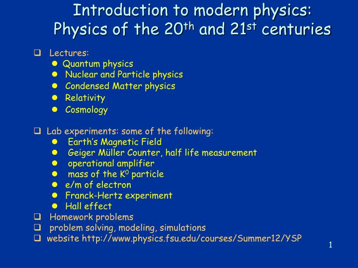 introduction to modern physics physics of the 20 th and 21 st centuries n.