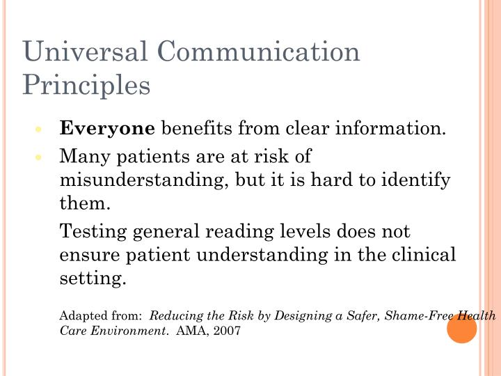 Universal Communication Principles