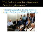 for god and country geronimo geronimo geronimo