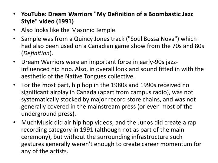"YouTube: Dream Warriors ""My Definition of a"