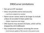 dnscurve limitations