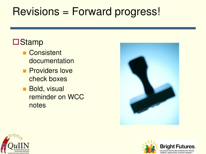 Revisions = Forward progress!