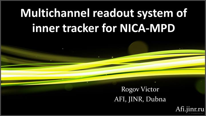 multichannel readout system of inner tracker for nica mpd n.
