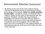 mavrommatis palestine concessions