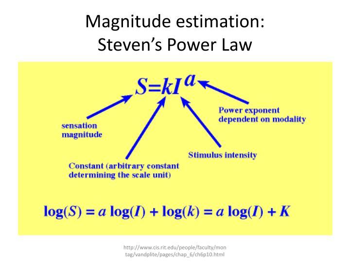 Magnitude estimation: