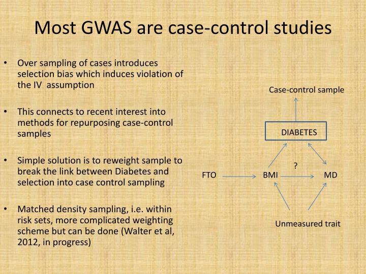 Most GWAS are case-control studies