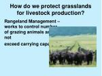 how do we protect grasslands for livestock production